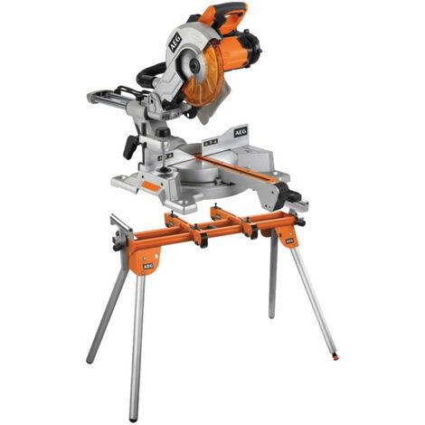 Pack Scie à onglet électrique AEG 1800W 254mm PS254 L - Support universel AEG pour scie radiale PSU1000