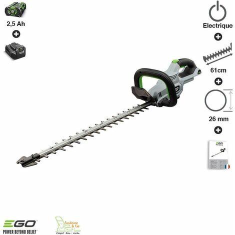 Pack sculpte-haies sans fil batterie et chargeur inclus lame double 60 cm Egopower HT2410E