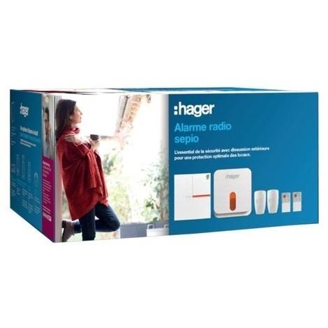 Pack sécurité 4 groupes Sepio Radio - Jusqu'à 40 détecteurs - Hager