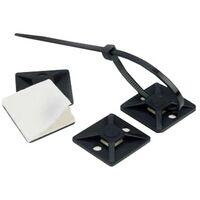 Pack Selbstklebende Kabelbinder Scotchflex 3M CTA BC 19 x 19mm (100 Un) Schwarz