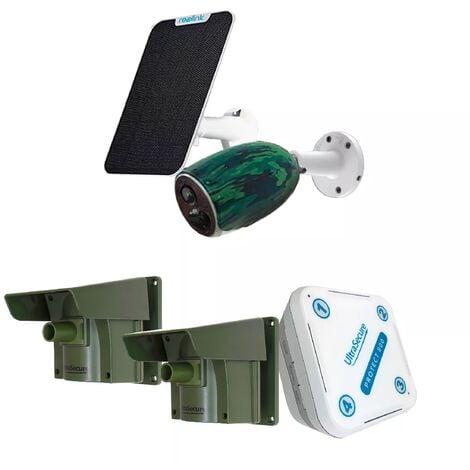 Pack sérénité sans fil détection & levée de doute - caméra 4G solaire + double détection passage (PROTECT 800 / REOLINK)