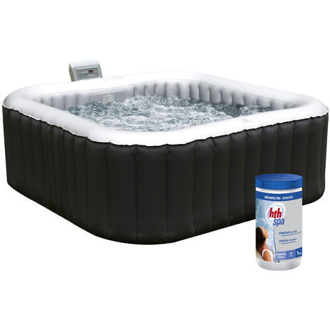 Pack spa carré gonflable ALPINE - 4 places + pastilles de brome