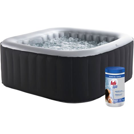 Pack spa gonflable ALPINE carré 158cm - 4 places + pastilles de brome