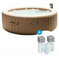 Pack Spa gonflable Intex Pure Spa Bulles 6 places Beige