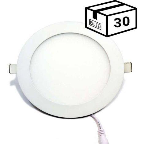 Pack spot LED 12W encastrable extra-plat (30 u.)