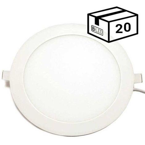 Pack spot LED 20W encastrable extra-plat (20 u.)