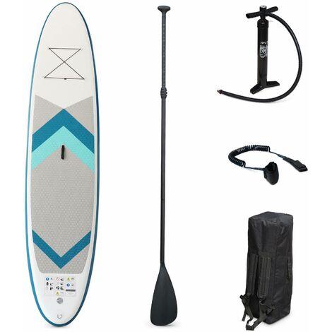 """Pack stand up paddle gonflable Lio 11'10"""" avec pompe haute pression double action pagaie leash et sac de rangement inclus"""