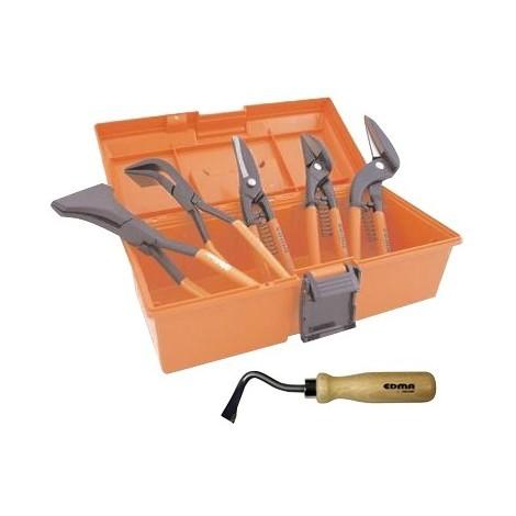 Pack starter zingueur pro EDMA malette de 6 outils - 620003