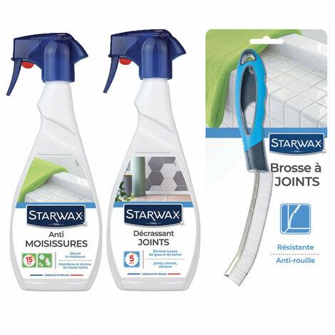 Pack Starwax entretien des joints de salle de bain: anti-moisissures + décrassant + brosse STARWAX