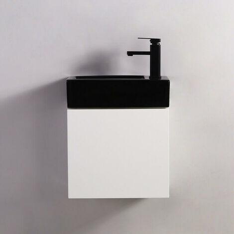 Pack Studio Noir droite + Meuble Lave main Blanc City Contenu du pack - 60cbf7f964519