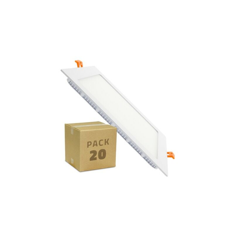 Pack SuperSlim LED Quadrata 18W (20 Un.) Bianco Caldo 3000K