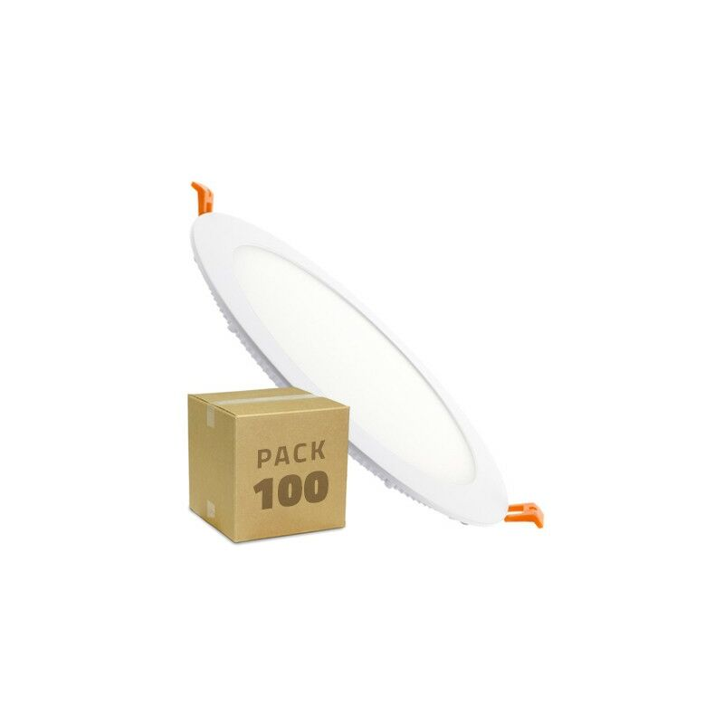 Pack SuperSlim LED Rotonda 18W (100 Un.) Bianco Naturale 4000K - 4500K