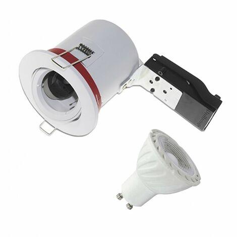 Pack Support de Spot LED inclinable + Ampoule LED GU10 6W 4000°K - Blanc jour