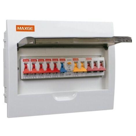 Pack Tableau Électrique IP30 18 Modules + 5 Disjoncteurs + Interrupteur Différentiel + Protecteur de surtension (Parafoudre) Blanc - Blanc