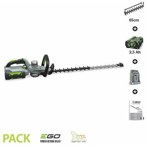 Pack taille-haies sans fil avec batterie 5Ah et chargeur inclus EGO POWER HT6500E-P - Gris