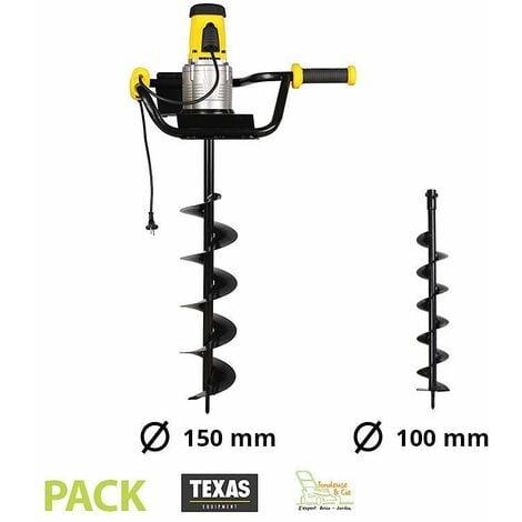 Pack tarière électrique 1200W avec 2 vrilles 100 et 150 mm Texas EA1200