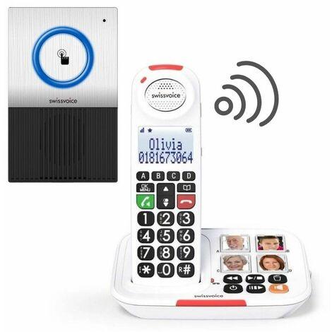 Pack Téléphone sans fil Xtra 2155 et une Sonnette interphone - noir