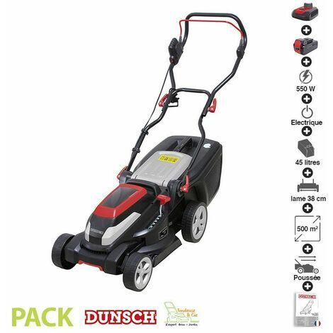 """main image of """"Pack tondeuse à gazon batterie lithium chargeur 40V Dunsch coupe 38 cm - Noir"""""""