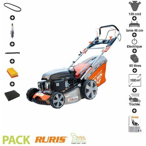 Pack tondeuse mulching démarrage électrique lame 46cm kit maintenance Ruris RX331S - Orange