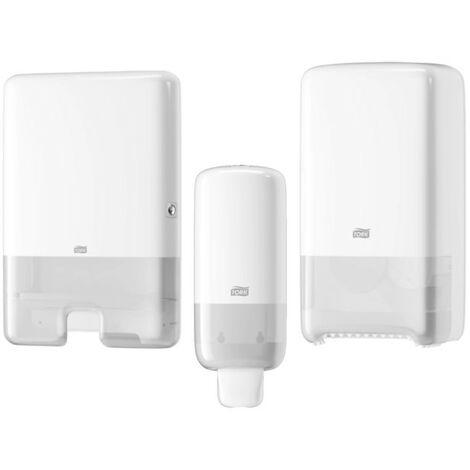 Pack Tork Distributeur essuie-mains - Distributeur pour savon mousse S4 blanc 561500 - Distributeur pour papier toilette T6 blanc 557500