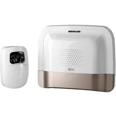 Pack transmetteur domotique IP/GSM et détecteur vidéo Tyxal + - Blanc