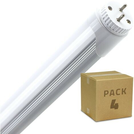 Pack Tubo LED T8 1200mm Conexión un Lateral 18W (4 un)
