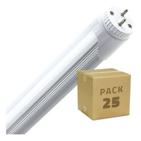 Pack Tubos LED T8 1200mm Conexión un Lateral 18W (25 un)