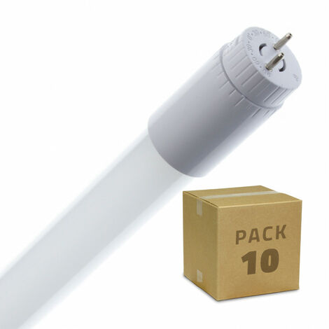 Pack Tubos LED T8 Cristal 1500mm Conexión un Lateral 22W 110lm/W (10 un)