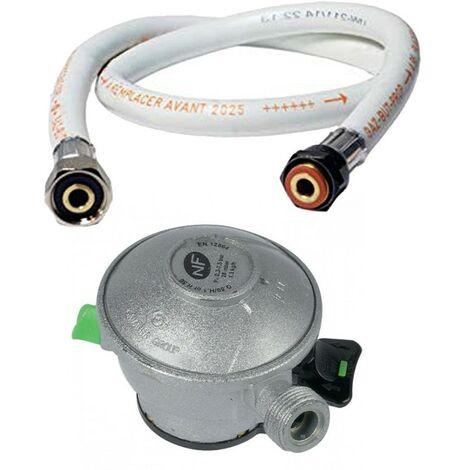 Pack tuyau gaz 1.50 m + Détendeur Propane Quick-On Valve Diam 20mm