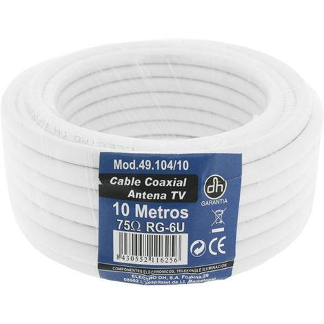 Pack TV par câble coaxial 10 m Electro Dh 49.104/10 8430552116256