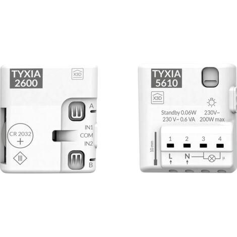 Pack TYXIA 501 - Création circuit d'éclairage va-et-vient 2 interr. - Delta Dore