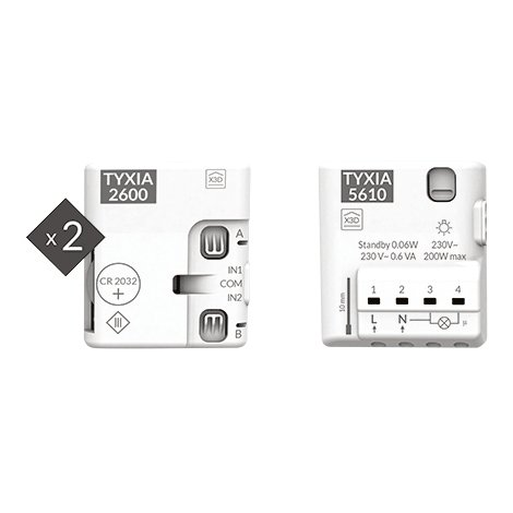 Pack TYXIA 511 - Ajout d'interrupteur pour éclairage connecté - Delta Dore