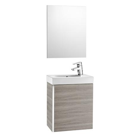 Pack Unik MINI 450 - lave-mains + miroir - Chêne texturé