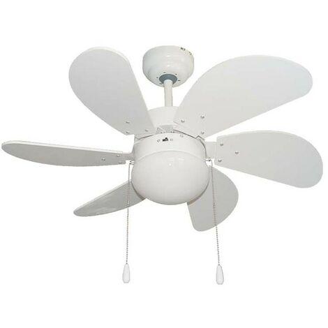 Pack Ventilador de LED y Mando a distancia color Blanco.