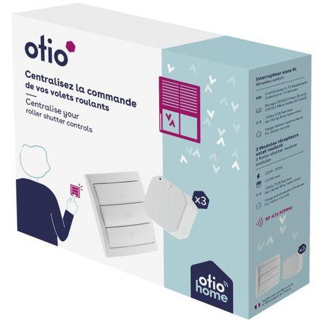 Pack volets roulants télécommandés (1 télécommande + 3 modules) - Otio