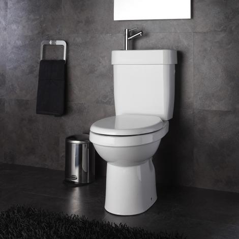 Pack Wc 2 en 1 avec lave-mains ecologique sortie Horizontale
