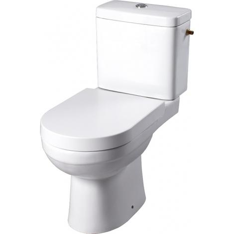 Pack wc a poser avec abattant magnetique sortie horizontale