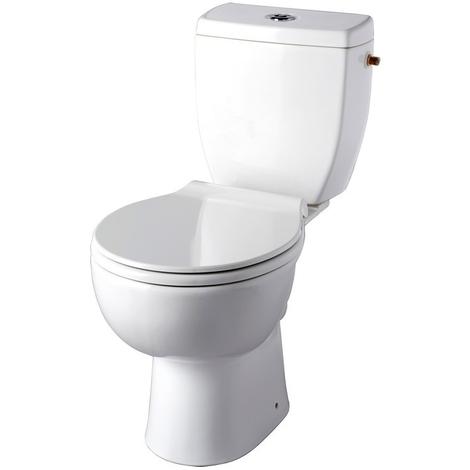 Pack WC à poser Clean Flush - cuvette sans bride - sortie horizontale