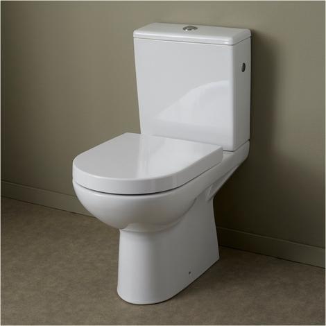 Pack WC a poser en ceramique a sortie horizontale