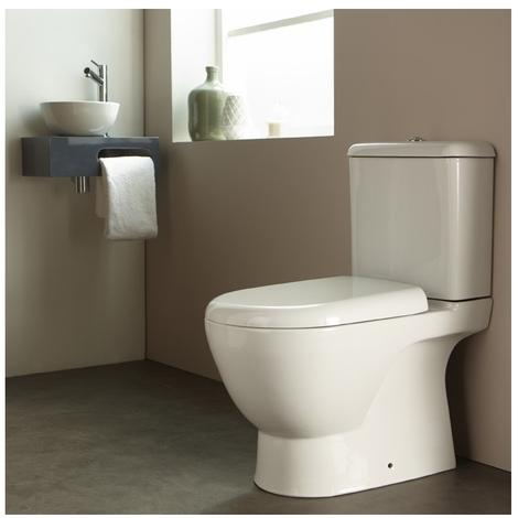 Pack wc à poser en porcelaine blanc