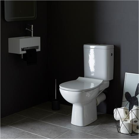 Pack wc a poser fastanta sortie horizontale avec traitement anti calcaire
