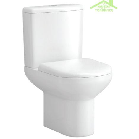 Pack WC à poser KAVALA 76x37x61 cm avec abattant à frein de chute