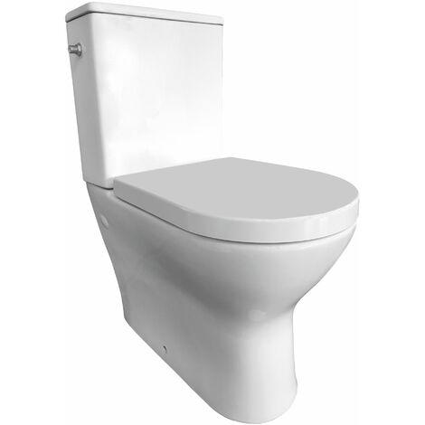 Pack WC à poser KOBALT avec cuvette rimless (sans rebords) - Mécanisme 3/6L, alimentation d'eau silencieuse