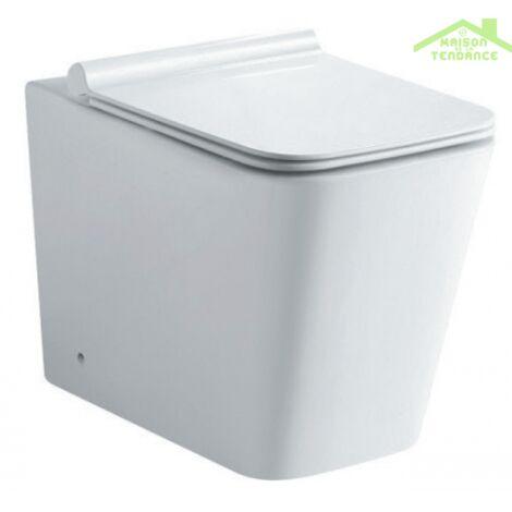 Pack WC à poser sans bride Rimless NENY 60x41,5x35 cm - Avec le réservoir