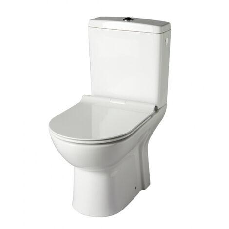 Pack wc à poser sans bride sortie verticale / vario - FRIENDLY Blanc PLANETE BAIN