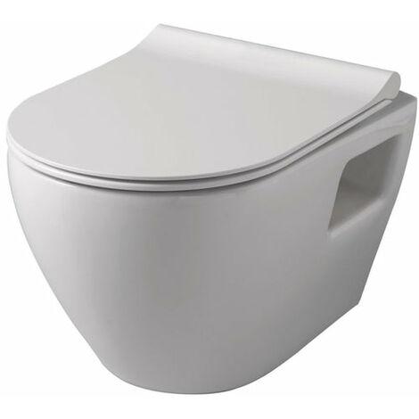 Pack WC ALTERNA CONCERTO 3 suspendu sans bride a sortie horizontale, Ref.CUV CONCERTO RIML