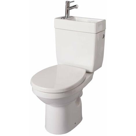 Pack WC ALTERNA DOPPIO 2 avec Lave-mains integre blanc