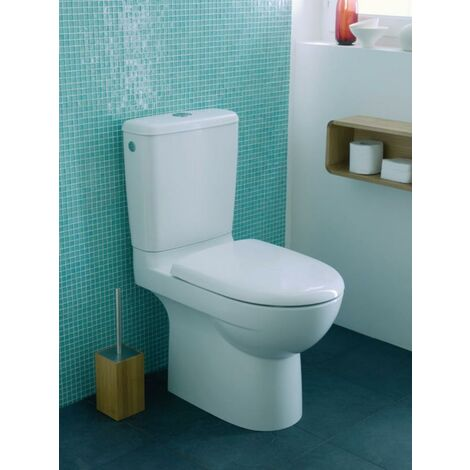 Pack WC au sol GEBERIT Prima - Multi réservoir et abattant frein de chute - 08331300000101
