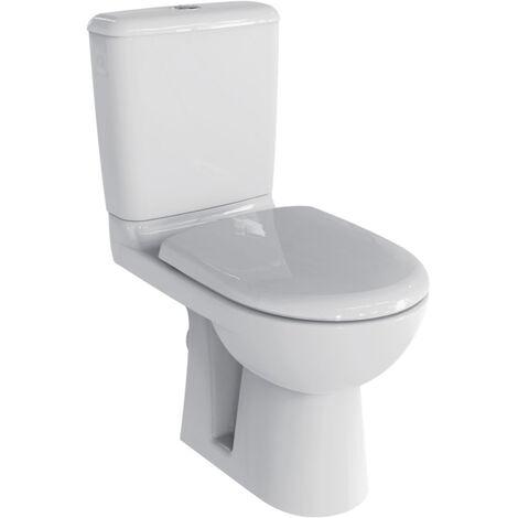 Pack WC au sol GEBERIT Prima - Rimfree - Réservoir et abattant standard - 08325400000201