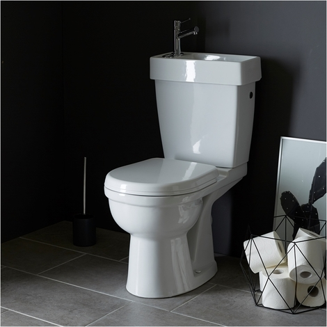 Pack WC avec lave mains intégré gain de place Sortie Horizontale